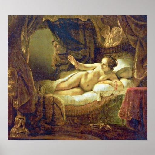 Rembrandt Harmenszoon van Rijn - Danae Posters | Zazzle