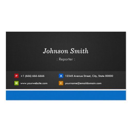 Reporter Professional Customizable Business Card Template