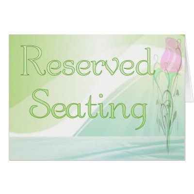 Pin reserved sign template for Reserved seating signs template