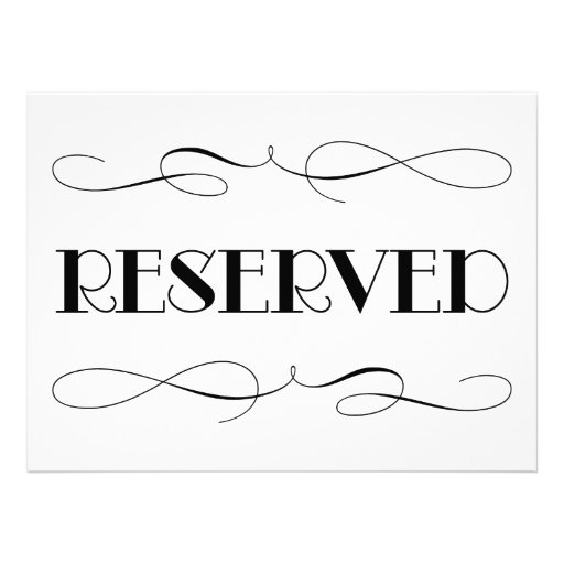 reserved seating signs template reserved sign template pictures to pin on pinterest