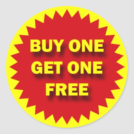 Buy One Get One: BUY ONE GET ONE FREE CLASSIC ROUND