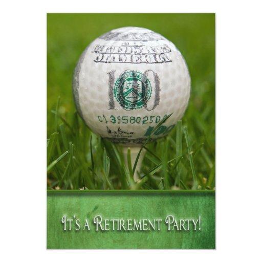 retirement party golf theme card zazzle. Black Bedroom Furniture Sets. Home Design Ideas