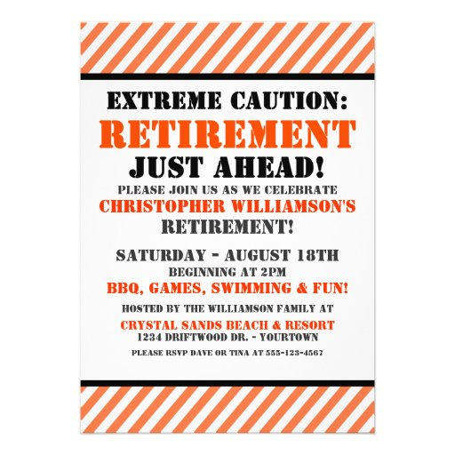 retirement announcement flyer template - most popular retirement party invitations