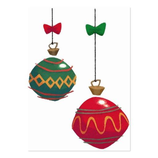 Company Logo Christmas Ornaments: Retro Christmas Ornaments Business Cards