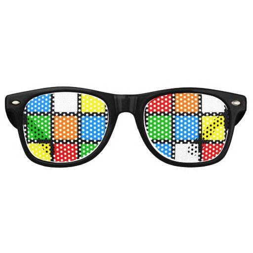Retro Color Puzzle Wayfarer Sunglasses | Zazzle