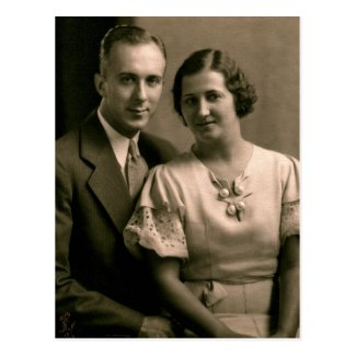 Retro Couple Wedding Portrait 1933