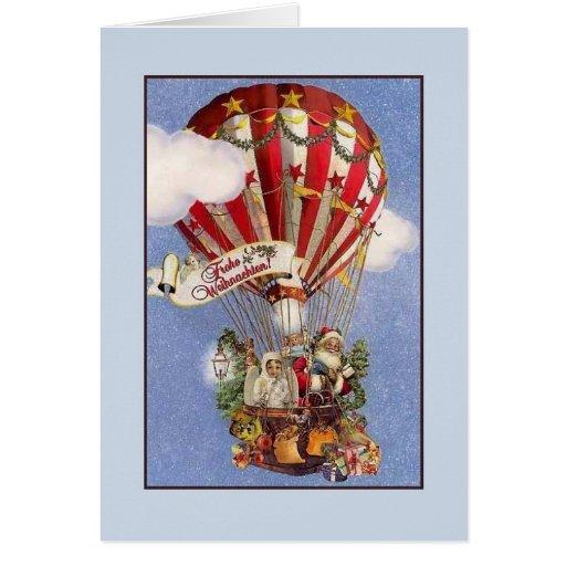 retro german frohe weihnachten christmas card zazzle