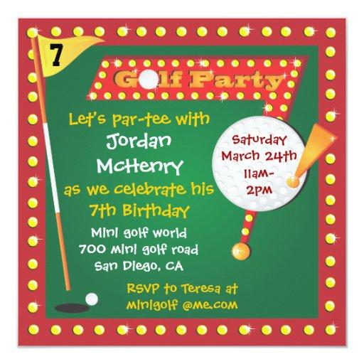 Retro Miniature Golf Party Invitation Zazzle