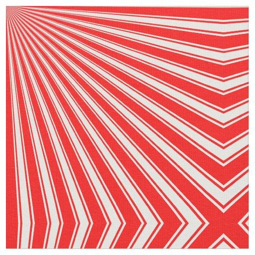 Retro Red Funky Sun Rays Background Fabric | Zazzle