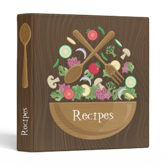 Salad Bowl Recipes - Available at Zazzle