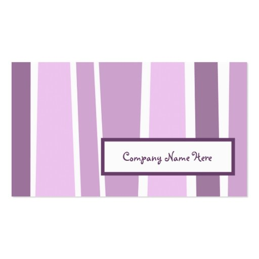 Retro stripes 2 sided double sided standard business for 2 sided business cards templates free