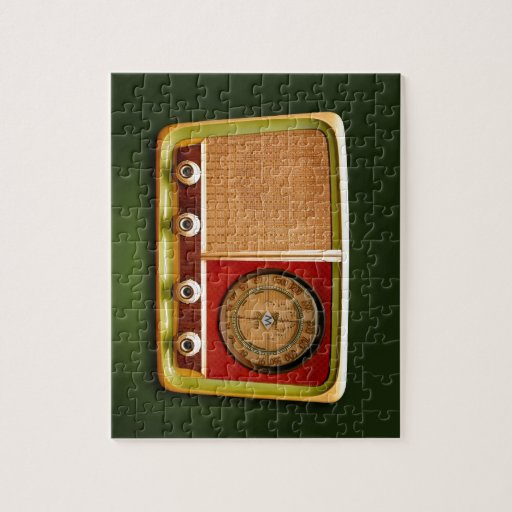 retro style radio jigsaw puzzle | Zazzle