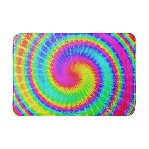 Retro Tie Dye Hippie Psychedelic Colorful Swirl Bathroom