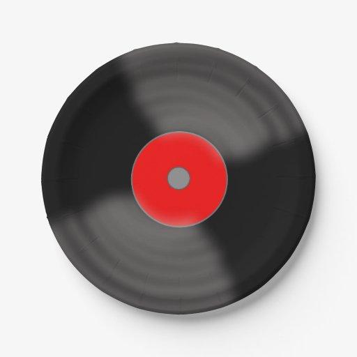Retro Vinyl Record Party 1950 S Music Paper Plates Zazzle