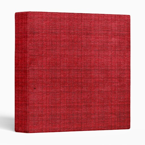 Rich Red Fabric B Vinyl Binder