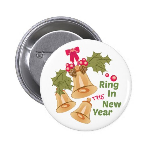 Ring In New Year Button | Zazzle