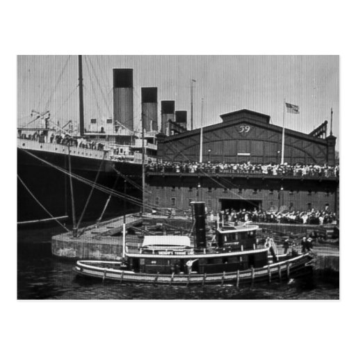 Rms Olympic: RMS Olympic At Pier 59 Vintage Glass Slide 1911 Postcard
