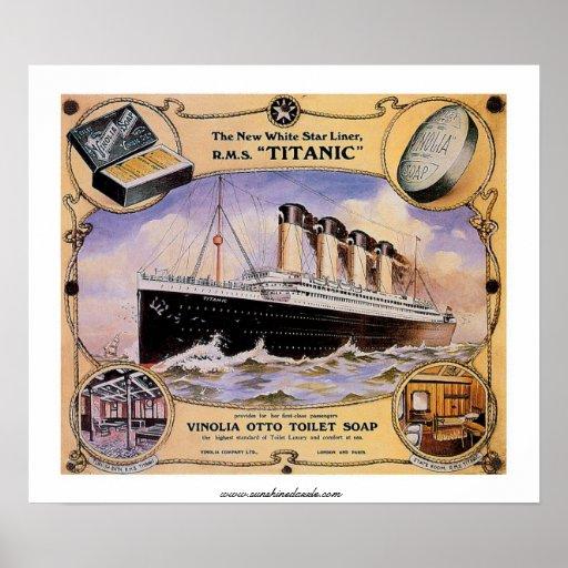RMS Titanic Vintage Soap Ad Poster | Zazzle