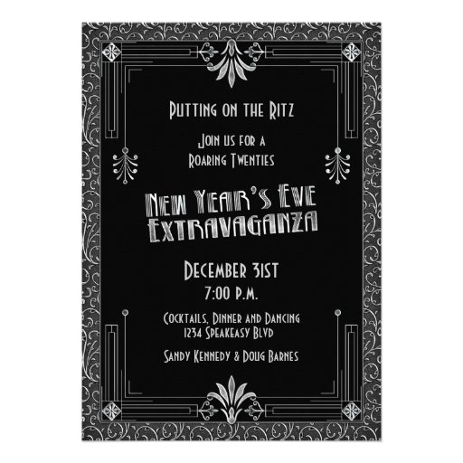 Roaring 20s Twenties Art Deco New Year's Eve Party 5x7 ...