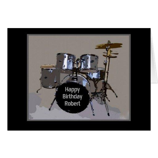 Robert Happy Birthday Drums Card
