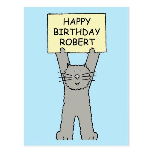 Robert Happy Birthday Postcard