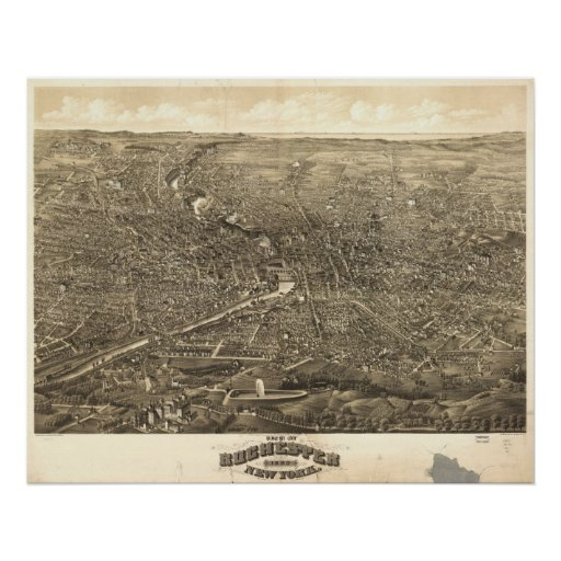 Rochester NY 1880 Panorama Poster