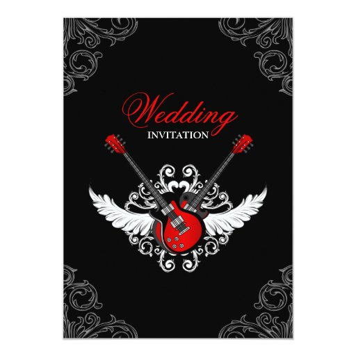 Rolled Wedding Invitations: Rock And Roll Wedding Invitation