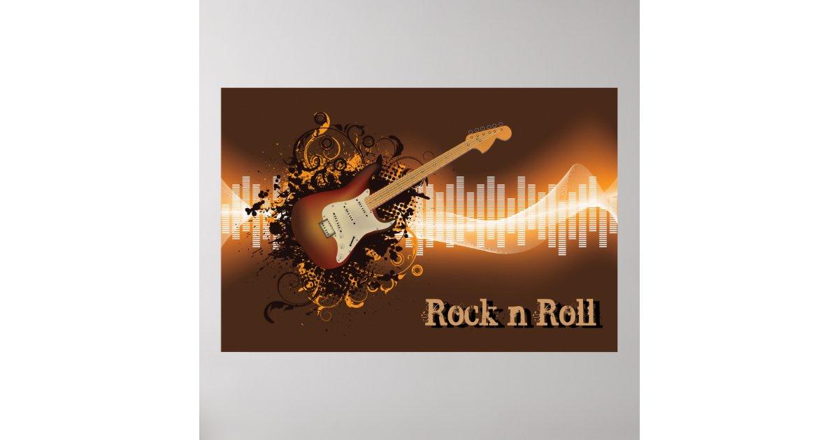rock n roll music poster zazzle. Black Bedroom Furniture Sets. Home Design Ideas