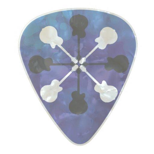 rocker guitar cool pearl celluloid guitar pick zazzle. Black Bedroom Furniture Sets. Home Design Ideas