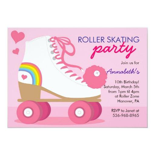 Roller Skating Birthday Party Invitations Zazzle