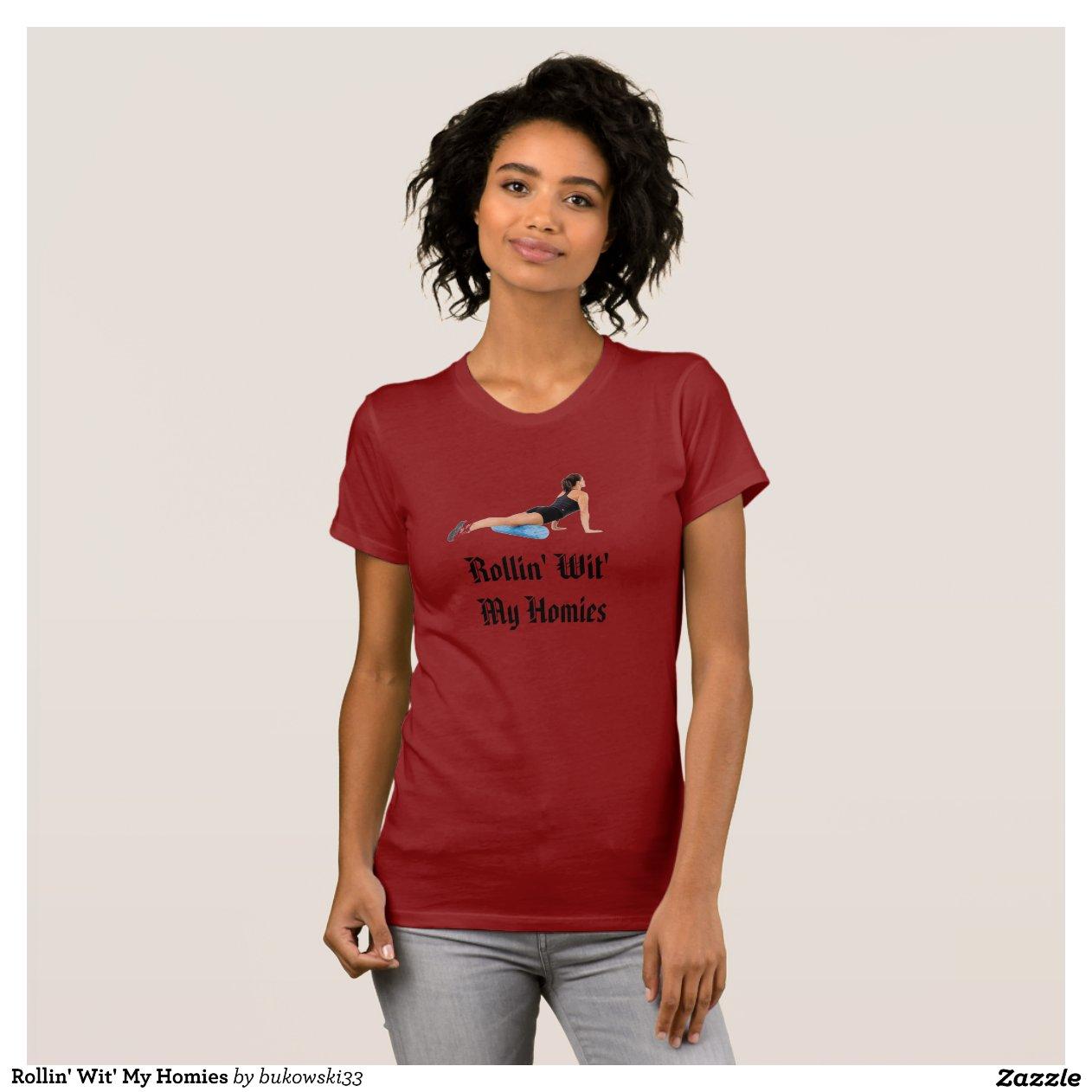Red Homies Sweatshirt Rollin  Wit  My Homies Tshirt