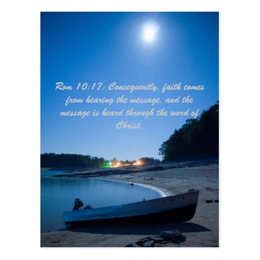 Rom 10:17: Consequently, Faith Comes From Hearing Postcard