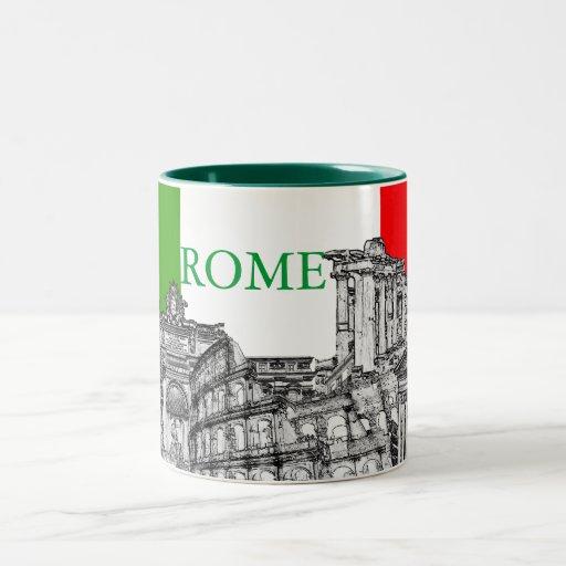 Roma Rome Travel Souvenir Gifts Two Tone Coffee Mug