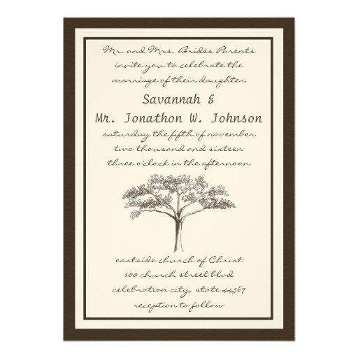 Romantic Love Tree Initials In Trunk Wedding 5x7 Paper