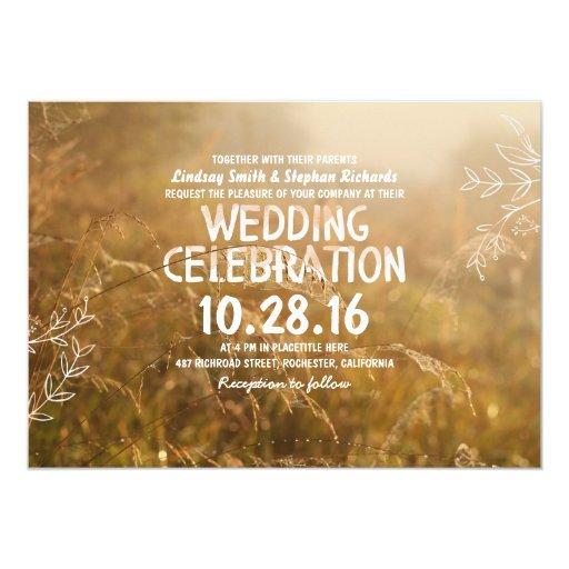 Outdoor Wedding Invitations: Romantic Outdoor Wedding Invitations