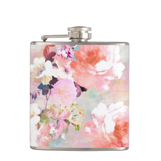 Romantic pink teal watercolor chic floral pattern flasks ra5bd9a2afc3e4a9285543de038ba027d i9rm8 8byvr 512
