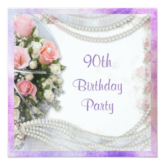 90th Birthday Party Invitations & Announcements Zazzle