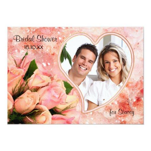 Rose Petal Heart - Bridal Shower Invitation