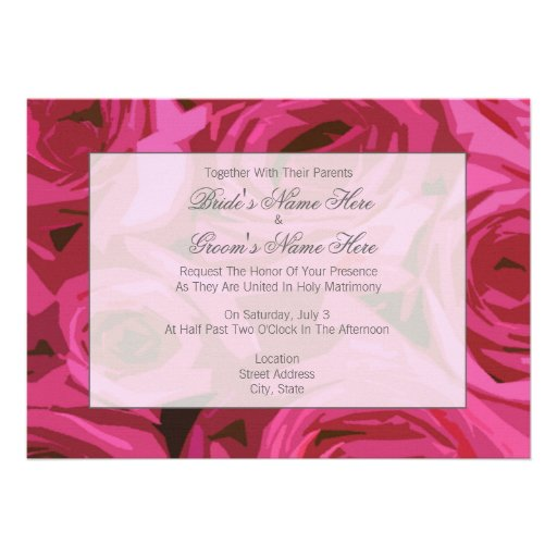 Together With Their Parents Wedding Invitation