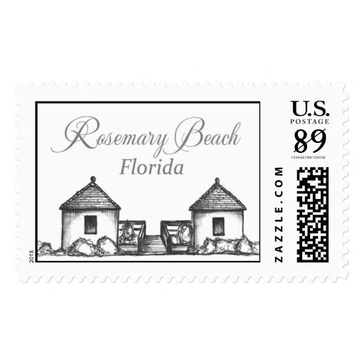Inspiration Hut Grid Paper: Rosemary Beach Florida Beach Huts Stamp