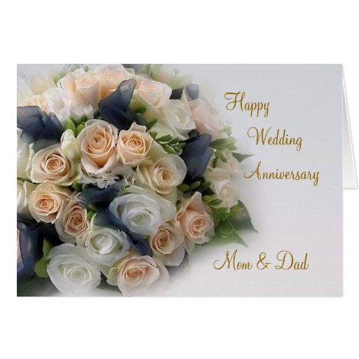 25th Wedding Anniversary Gifts For Mum And Dad: Roses, Wedding Anniversary Card For Mom And Dad
