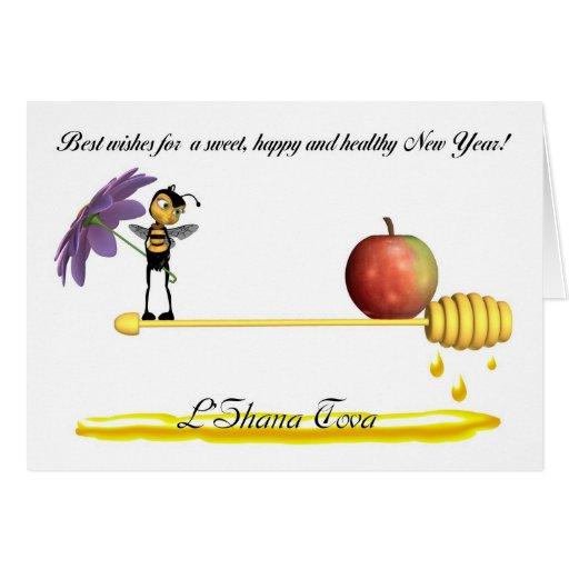 Rosh Hashanah Jewish New Year - L'Shana Tova Greeting Card ...
