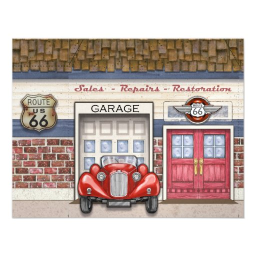 Personalized Vintage Cars Invitations | CustomInvitations4U com