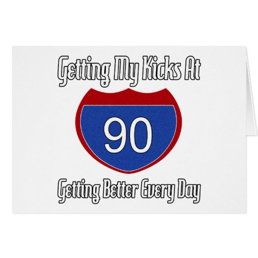 Route 66 90th Birthday Card