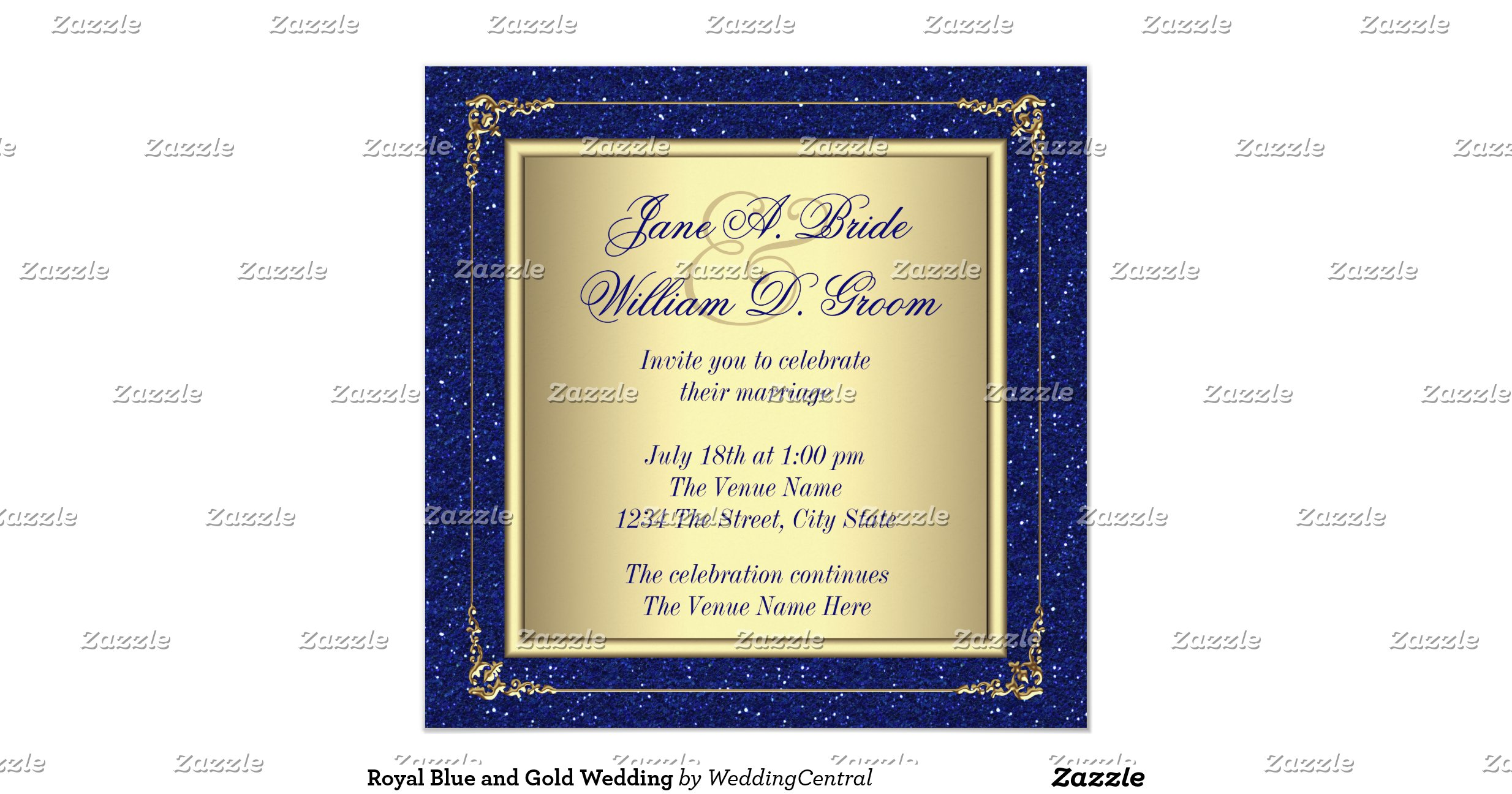 Gold And Blue Wedding Invitations: Royal_blue_and_gold_wedding_invitation