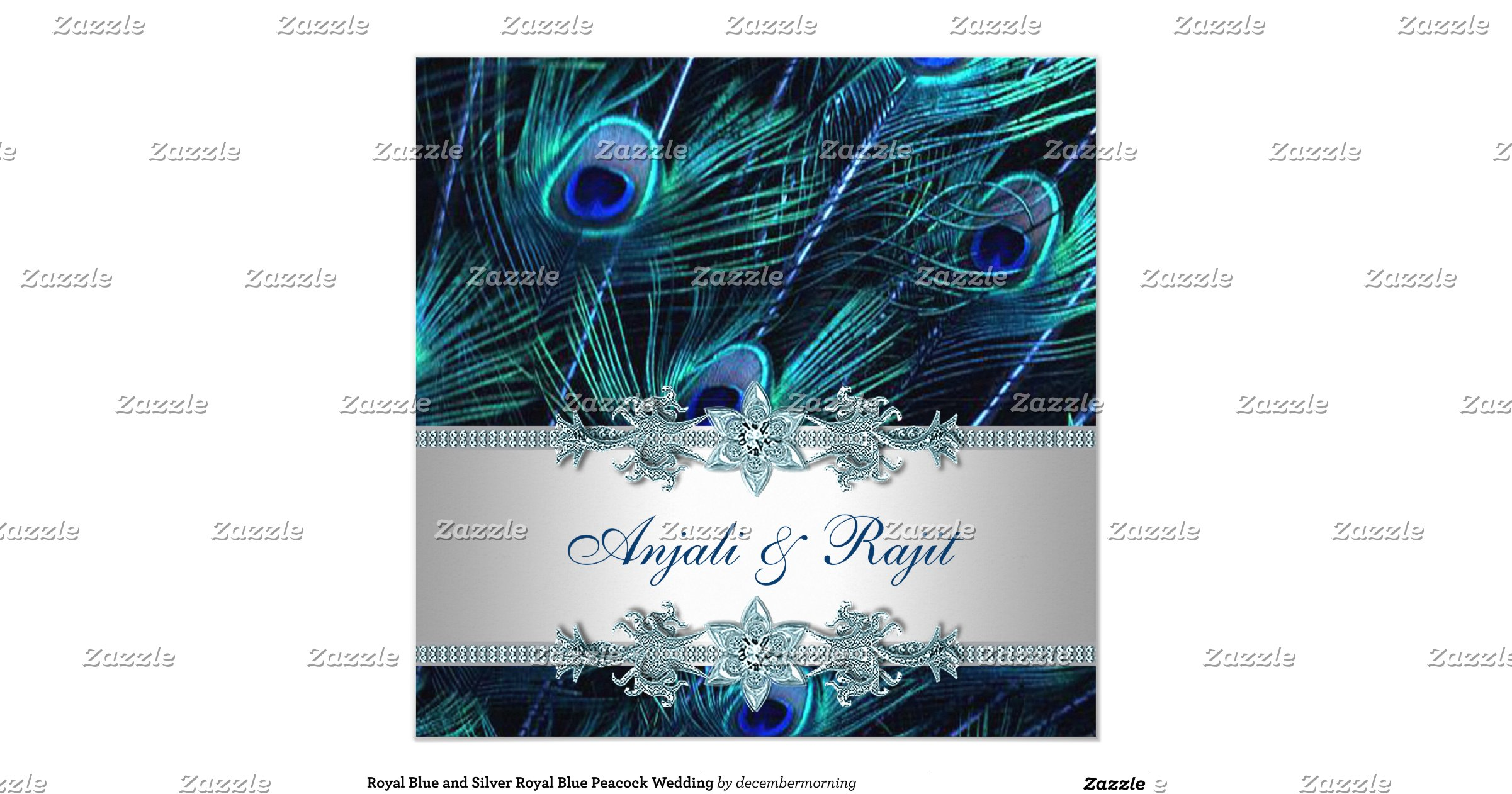 Wedding Invitations Royal Blue And Silver: Royal_blue_and_silver_royal_blue_peacock_wedding