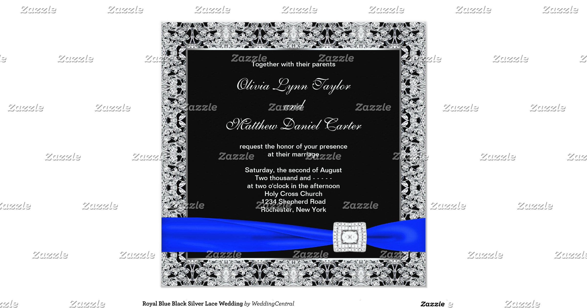 Wedding Invitations Royal Blue And Silver: Royal_blue_black_silver_lace_wedding_invitation
