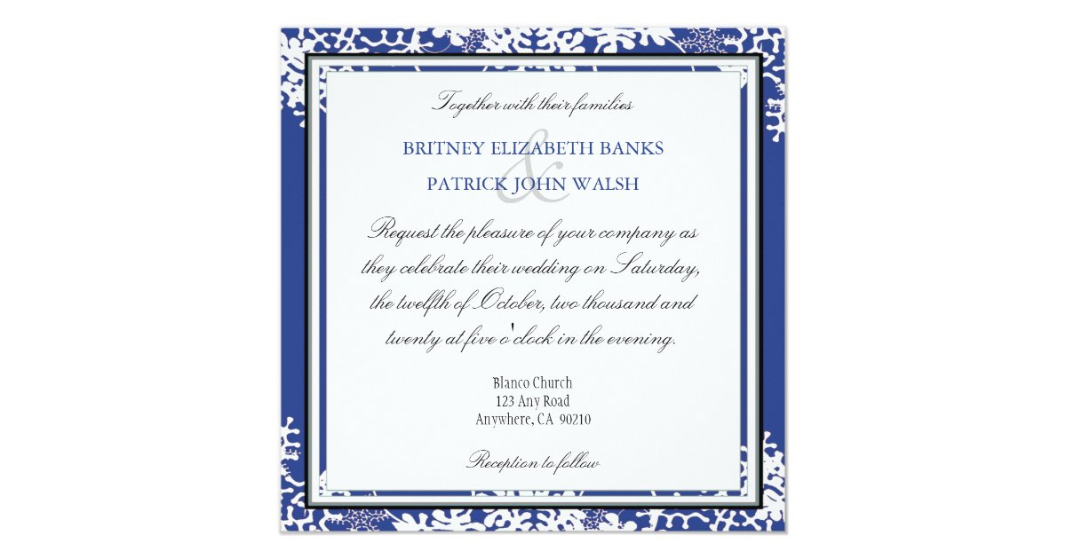 Royal Blue And Gold Wedding Invitations: Royal Blue & Gold Snowflake Wedding Invitations