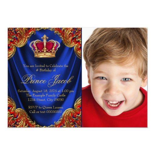 Royal Prince Birthday Party Card | Zazzle