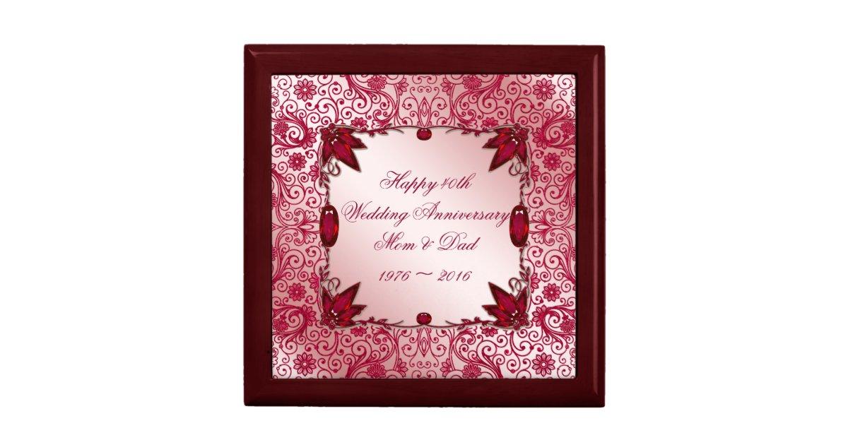 Ruby 40th Wedding Anniversary Gifts: Ruby 40th Wedding Anniversary Gift Box
